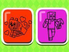 Mineblox de Colorat pentru Copii