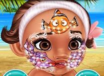 Bebelusa Moana Arta Faciala