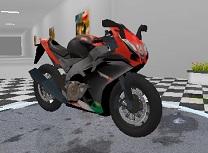 Motocicleta pe Autostrada