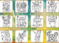 Carte de Colorat Ustensile Muzicale