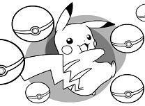 Pikachu de Colorat