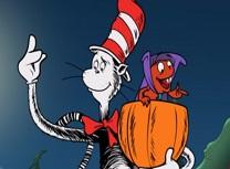 Pisica din Palarie Puzzle de Halloween