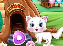 Pisicuta Curatenie in Casa din Copac