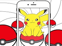 Pokemon Go Pikachu de Colorat