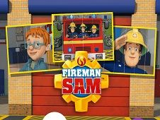 Pompierul Sam Puzzle Glisant