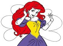 Printesa Ariel de Colorat