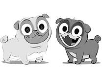 Puppy Dog Pals Alb Negru