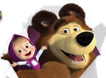 Puzzle cu Masha si Ursul