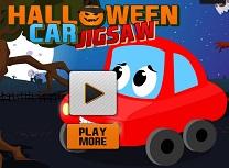 Puzzle cu Masina de Halloween