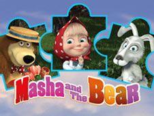 Puzzle Jigsaw cu Masha si Ursul