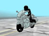Sickman Zombie cu Motocicleta