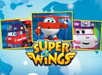 Super Wings Puzzle Slides