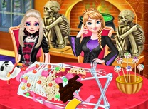 Surori Frozen Gatesc de Halloween