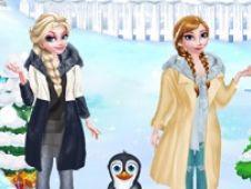 Surorile Frozen Calatoresc la Polul Sud
