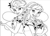 Anna si Elsa Surori de Colorat