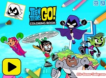 Tinerii Titani Carte de Colorat