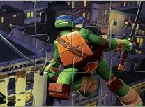 Testoasele Ninja Puzzle cu Leonardo