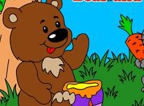 Ursul si Iepurele de Colorat